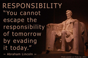 ... take responsibility for your life and to be in control of your life