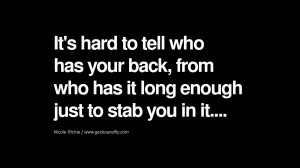 Quotes About Backstabbers Quotes on friendship, trust