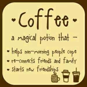 Thank you, coffee