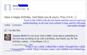 Bible Verse Regarding Birthdays