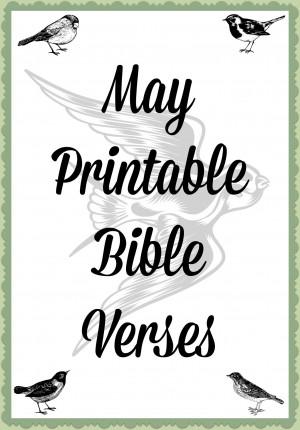 May Printable Bible Verses