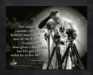 Lou Gehrig New York Yankees Pro Quotes Framed 8x10 Photo #1 at Amazon ...