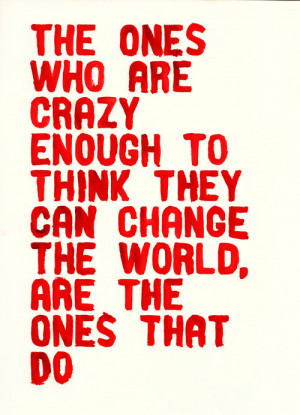 apple, change the world, quote, red, steve jobs, text