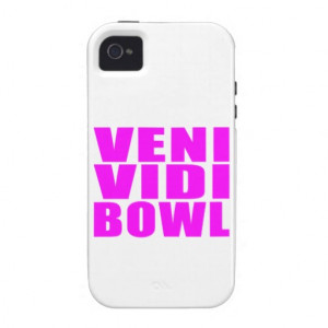Funny Girl Bowling Quotes : Veni Vidi Bowl Case-Mate iPhone 4 Cases