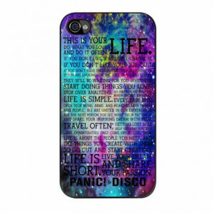 Panic At The Disco Band Life Quotes iPhone 4s Case