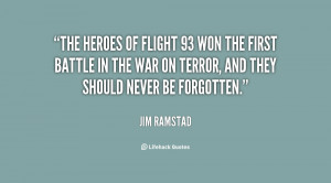 The heroes of Flight 93 won the first battle in the War on Terror, and ...