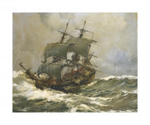 Ship On Rough Seas