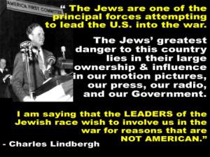Charles Lindbergh quote Jews leading U.S. into WAR