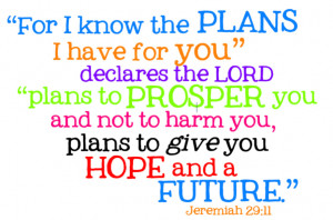 Have For You Declares The Lord Plans To Prosper You Bible Quote