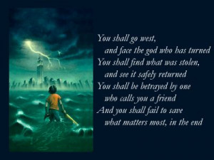 ... olympians quotes | ... Prophecy, Percy Jackson & the Olympians: The