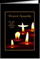 Loss of Uncle Sympathy Candle-Custom Card - Product #458017