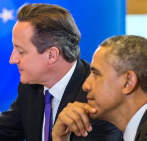 Barack Obama, right, and British Prime Minister David Cameron ...