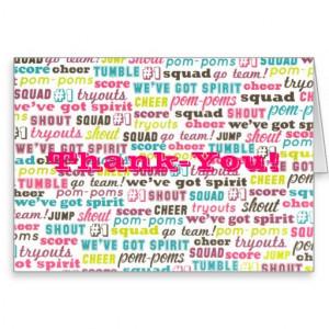 Cheerleading Sayings Thank-you Notecards