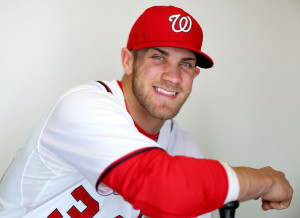 Bryce Harper Bryce Harper #34 of the Washington Nationals poses for a ...
