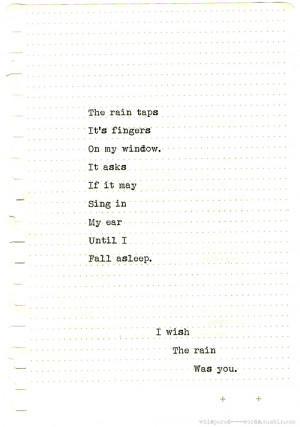 quote sad quotes Typography writing rain fall poetry poem heartbreak ...