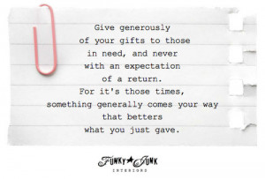 Using-our-gifts-to-gift-others: inspiring-post-via-Funky-Junk ...