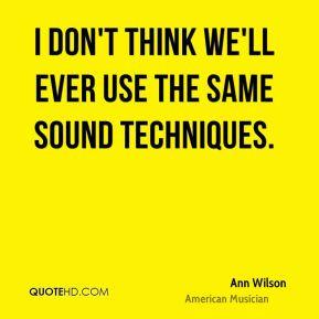 Ann Wilson Quotes