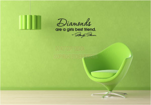 ... Quotes / Diamonds are a girls best friend Marilyn Monroe Wall decal