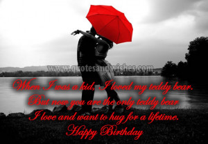 husband Cute and Romantic Happy Birthday wishes for Boyfriend, husband ...
