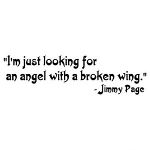 ... Wing - Jimmy Page Led Zeppelin Quote Wall Words Vinyl Wall Art Decal