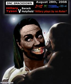 Funny Hillary Clinton as Mike Tyson