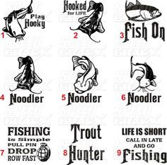 Funny Fishing Quotes | ... FISH SAYINGS,DECAL, STICKER,RAINBO W TROUT ...