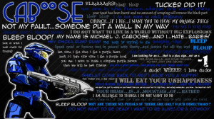 Desktop Wallpaper of quotes from the ever funny Caboose.