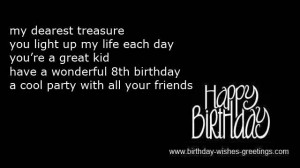 funny 8 year old birthday wishes daughter -