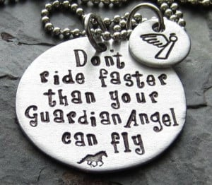 Guardian AngelHand Stamped Horse Quote by EquineExpressionsbyD, $29.00