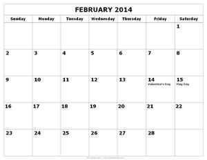 February Calendar Land