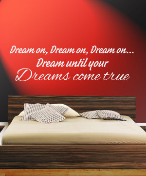 Dream-until-your-dreams-come-true-Quote-Giant-Sticker-Decal-on-Wall ...