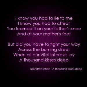 Leonard Cohen's poetry