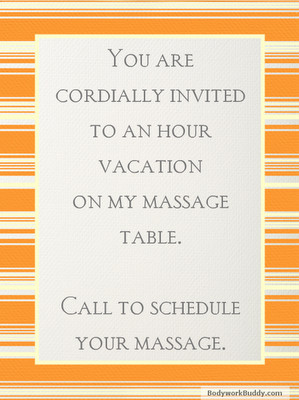 ... massage is better than taking a vacation. (And then schedule your