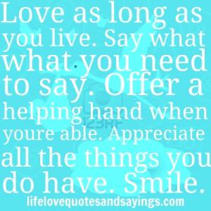 lifelovequotesandsayin...Love Quotes And Sayings