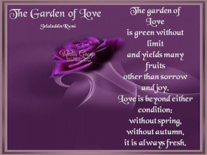 The Garden of Love Is Green Without Limit And Yields Many Fruits Other ...