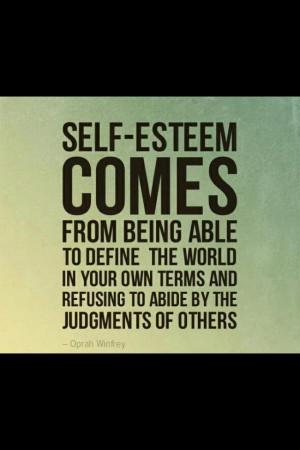 Inspiring Quote Self Esteem