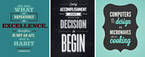 20 Inspirational Typography-Based Quotes