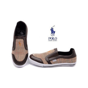 Ralph Lauren Polo Mens Casual Lines Shoes Brown