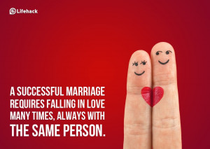 successful marriage is hard work those words were spoken