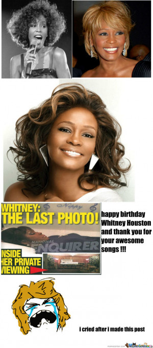 Happy Birthday Whitney Houston Meme