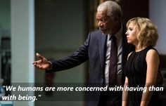 Lucy (2014) Morgan Freeman as Professor Norman https://www.facebook ...