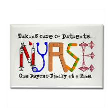 Funny Psych Nurse Sayings Fridge Magnets