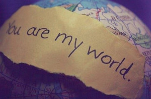 me love you never give up i love you always you are my world