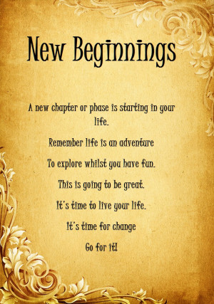 new beginnings :: Anne Marie Kell Psychic Medium Tarot Reader