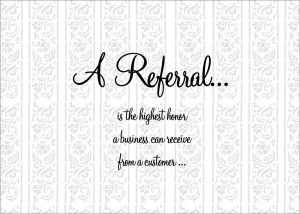 ... Business Greeting Cards > Business Referral Cards > A Referral Thanks