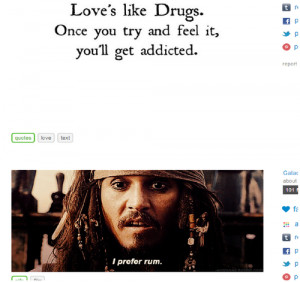rum johnny depp pirates of the caribbean quotes love