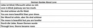 German Quotes About Love