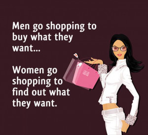 Difference between Men and Women in shopping –English Jokes
