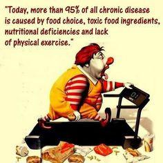 disease is caused by food choice, toxic food ingredients, nutritional ...