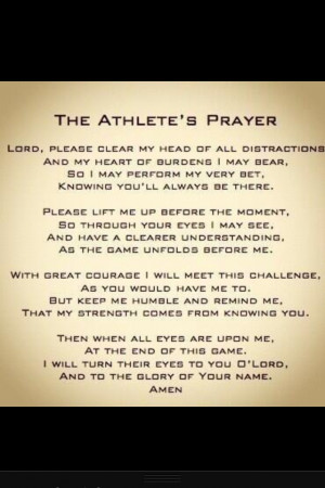 The Athlete's Prayer